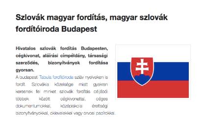 szlovák-magyar fordítás